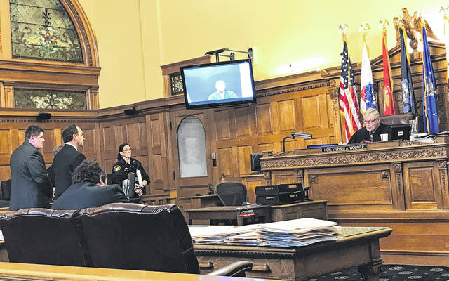 Anna Bolton | Greene County News Judge Stephen Wolaver presided over the arraignments Nov. 3 in Greene County Common Pleas Court. Attorney Jon Paul Rion entered a plea of not guilty for defendant Michael Gentile.