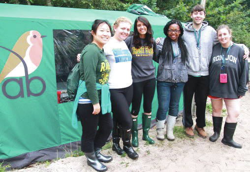 Submitted photo Wright State students worked in mixed Polish-American teams at two research field stations at the University of Gdansk and the Gdansk zoo during a study abroad trip.