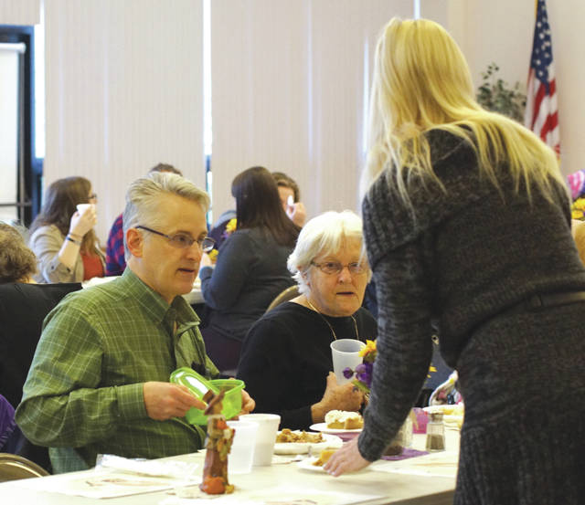 Barb Slone   Fairborn Herald The Fairborn Senior Center, with the help of a number of community members, organizations and churches, hosted a free Thanksgiving meal Nov. 23. Attendees were treated to traditional Thanksgiving meal items as well as a sense of community at the meal.