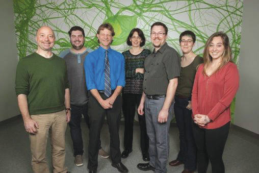 Submitted photo From left: The Neuro Lab team includes Christopher Wyatt, Ryan Rakoczy, Thomas Brown, Kathrin Engisch, Patrick Sonner, Mandy Hanes and Abby Schmidt.