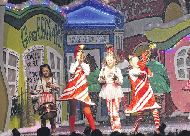 Barb Slone | Fairborn Herald A House of Prayer (AHOP) of Xenia presented a Holiday in Whoville Dec. 17 with more than 5,000 people in attendance for the production. AHOP is located at 282 Stelton Road. Cindy Lou Who was portrayed by Adara Brooks.