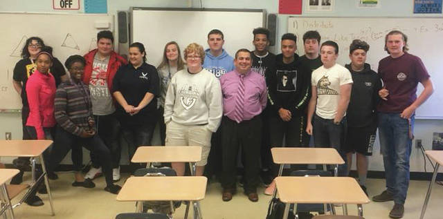 Submitted photos A FBI Special Agent and Greene County Juvenile Court Judge Adolfo Tornichio visited Fairborn High School's Introduction to Law Enforcement class to discuss law enforcement and career opportunities.