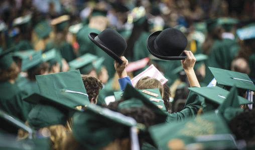 Submitted photo Wright State University's 2017 fall commencement ceremony takes place Saturday, Dec. 16, beginning at 10 a.m. in the Wright State Nutter Center.