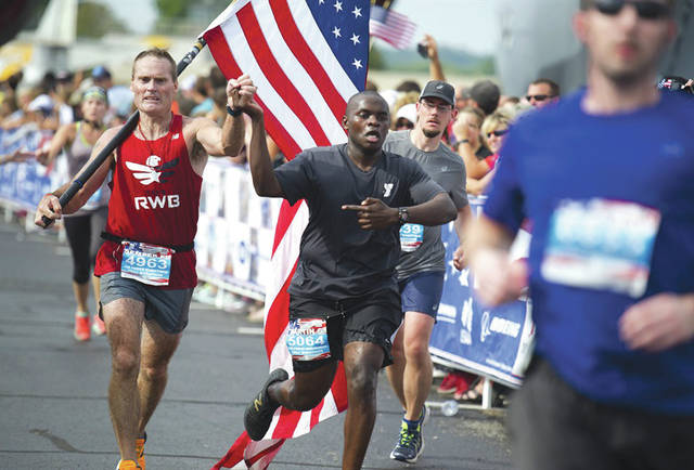 Submitted photo A scene from the 2016 Air Force Marathon weekend at Wright-Patterson Air Force Base, Sept. 15-17. More than 15,000 runners, walkers and spectators from all 50 states and 17 foreign countries gathered to participate in the race's 20th year.