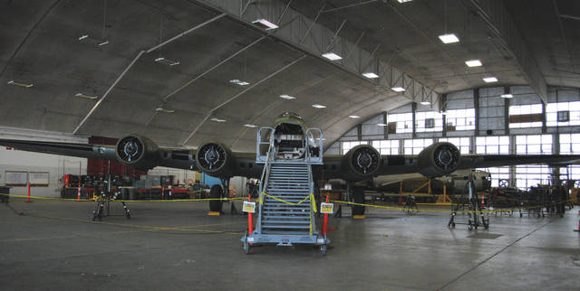 Whitney Vickers | Fairborn Daily Herald The B-17F Memphis Belle first arrived at the National Museum of the United States Air Force in 2005, according to a press release by the museum. A restoration team has been working to complete the project, which is nearing completion, ever since.