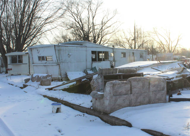 Photos by Linda Collins | Fairborn Herald Abandoned mobile homes within Huber RV and Mobile Home Park, located on the 4300 block of East Kitridge Road in Bath Township.