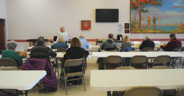 Photos by Whitney Vickers | Fairborn Herald The Fairborn Senior Center welcomed Shannon Fitzwater of Pristine Senior Living and Post Acute Care to the facility Jan. 16 as she highlighted senior wellness.