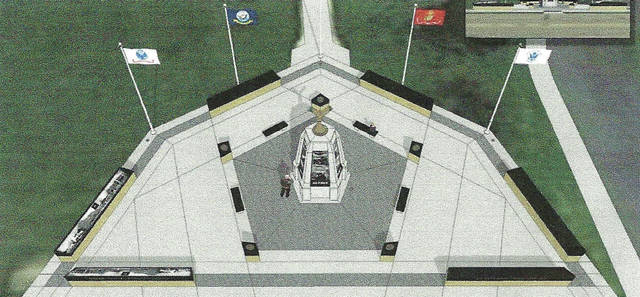 Submitted graphic The military veterans memorial committee is aiming to create a monument that honors all veterans from the area.