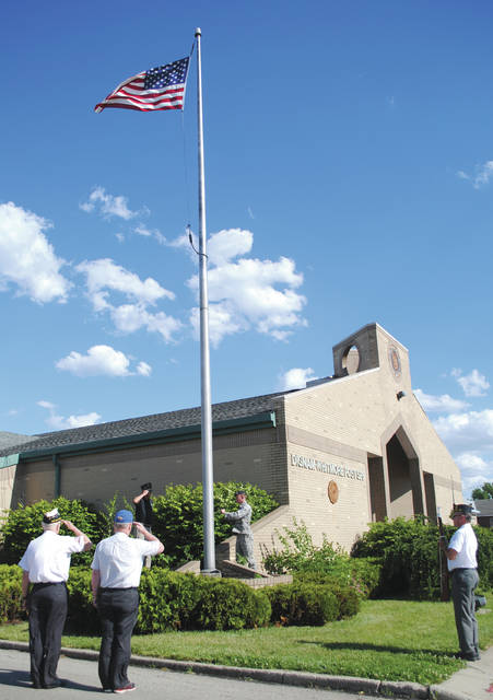 File photo American Legion Dignam-Whitmore Post 526 hosted the final posting of the colors at the facility May 31, 2017. It has since moved to 300 Main St.