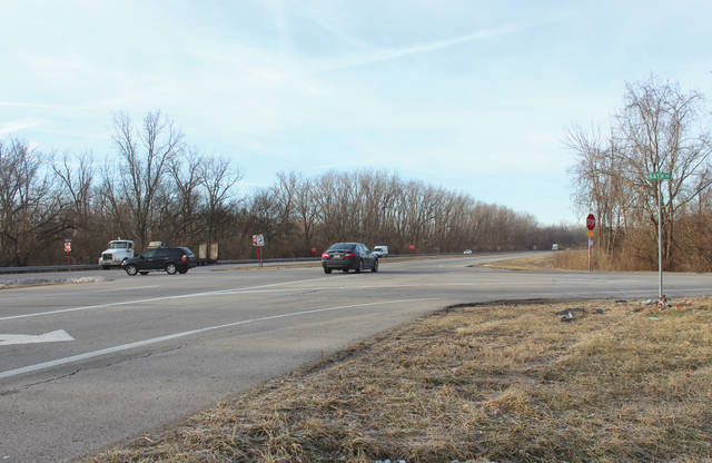 Busy State Route 4 and Bath Road intersection that will undergo road construction in March.