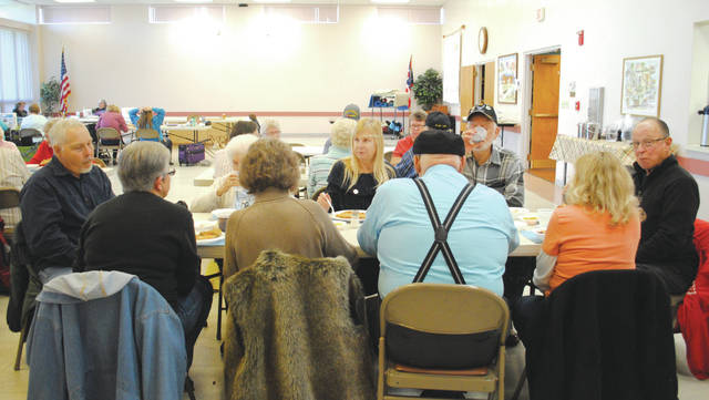 Whitney Vickers | Greene County News The Fairborn Senior Center hosts Lunch with Friends each Monday, inviting all members to sit down and share a meal together.