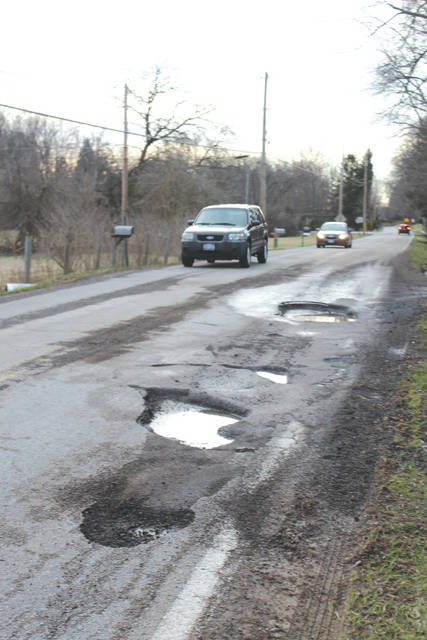 Linda Collins | Greene County News The current conditions of Bath Road between State Route 4 and Kitridge Road.