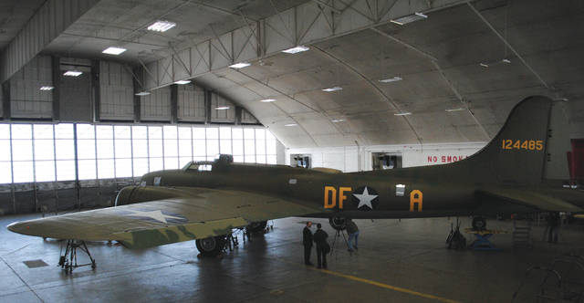 File photos The B-17F Memphis Belle first arrived at the National Museum of the United States Air Force in 2005. A restoration team has been working to complete the project, which is nearing completion, ever since.