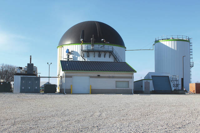Linda Collins | Fairborn Daily Herald The biosolids digester facility.