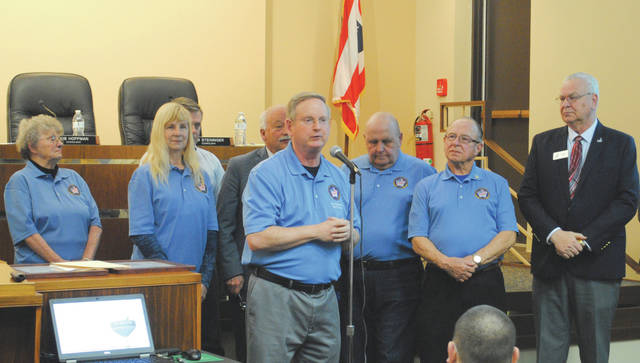 Whitney Vickers   Greene County News The Fairborn Military Veterans Memorial Project is halfway to meeting its financial goals after receiving funding from the State of Ohio. Pictured is the Fairborn Military Veterans Memorial Committee.