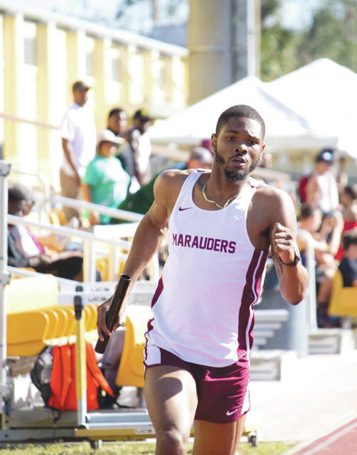 Central State's Juan Scott turned in a season-best time of 13.9 seconds to win the 110-meter hurdles at the Miami University Duals. He then teamed with Isreal Williams, Ja'Vonte Brown and Baron Wilson to win in the 1,600-meter relay, April 14 in Oxford.