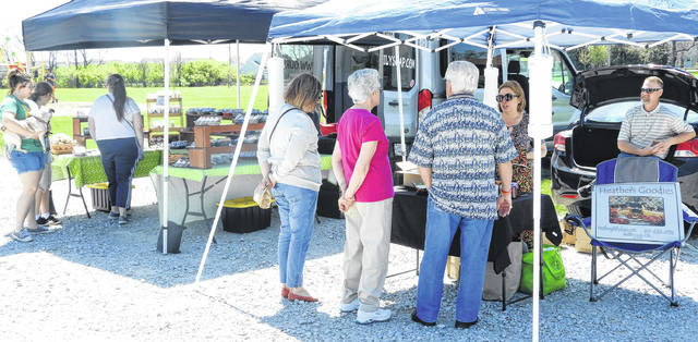 Customers were steady at the first day of the GCP&T Farmer's Market at Hobson Freedom Park.