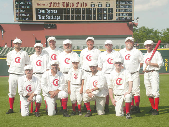 The 1869 Cincinnati Red Stockings, a vintage baseball team sponsored by the Reds Baseball Hall of Fame and Museum, will take on the Tipp City Canal Jumpers in a 5:30 p.m. baseball game played by 1860s rules on Saturday, June 2 at Fifth Third Field in downtown Dayton.
