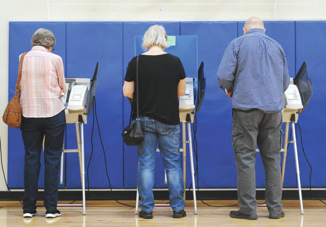 Whitney Vickers | Greene County News Fairborn voters took to the polls May 8 for the Primary Election. Polling volunteers said they saw periods of business throughout the day.