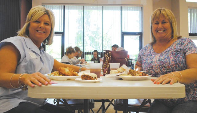 Participating agencies include Elmcroft of Fairborn, Patriot Ridge, Wright Nursing and the Fairborn Senior Center. They host the potluck lunch on the second Friday of each month.