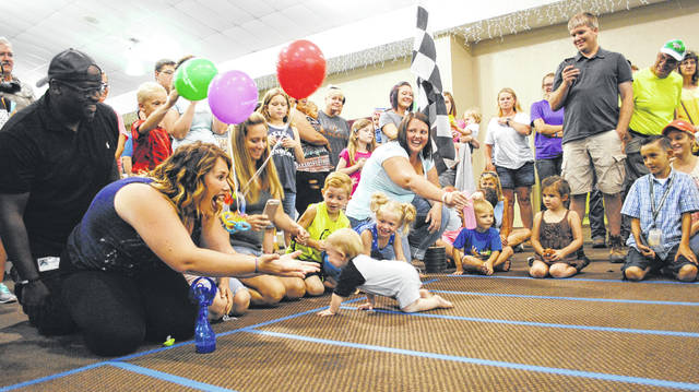 File photos Twelve babies competed during the Greene County Fair's first diaper derby last year.