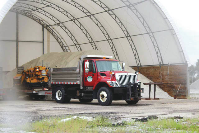 Linda Collins | Greene County News Bath Township still has some salt leftover from the previous winter.