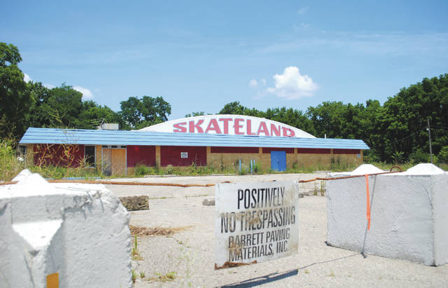 Whitney Vickers | Greene County News The land where the Skyborn Drive-in and Skyborn Skateland sit was rezoned in the spring months and currently belongs to Barrett Paving Materials. The company has agreed to work with the Fairborn Area Historical Society to allow them to explore and collect historical items of interest before the area is mined.