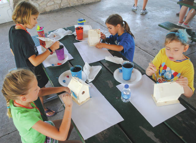 Whitney Vickers | Greene County News Fairborn Parks is continuing to host youth summer camps through the season and most recently hosted Paint Party for young citizens.