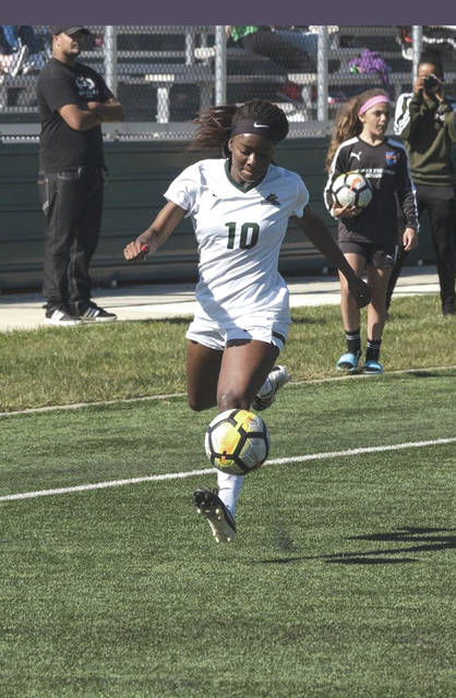 Senior and Fairborn High graduate Aaliyah Patten is one of three returning Horizon League first-team selections on the Wright State women's soccer team this season.