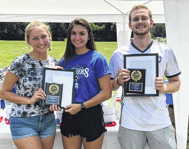 Submitted photos Abby Knaub, Amara Shepherd and Nate Higgins received $1,000 scholarships from Club X.