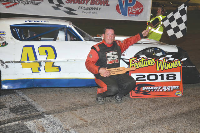 Fairborn racing veteran Jim Lewis Jr. won Saturday's 20-car Street Stock event at Shady Bowl Speedway, Aug. 4 in DeGraff.