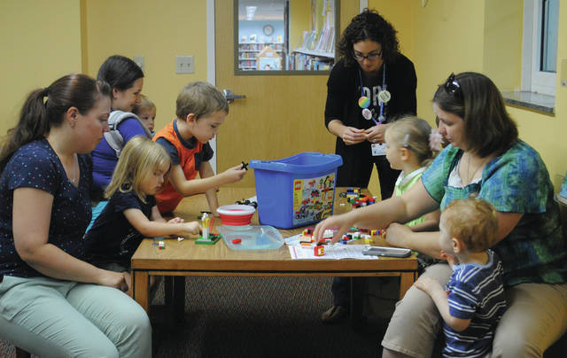 Whitney Vickers | Greene County News The Fairborn Community Library hosted STEM Discoveries, inviting young minds to the library for STEM-related activities, stories and more.