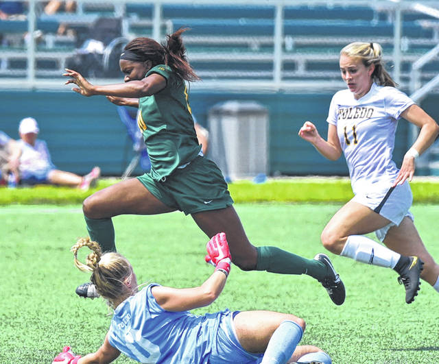 Submitted photo Fairborn grad Aaliyah Patten scored Wright State's only goal Aug. 19 in a 1-all tie with Toledo.