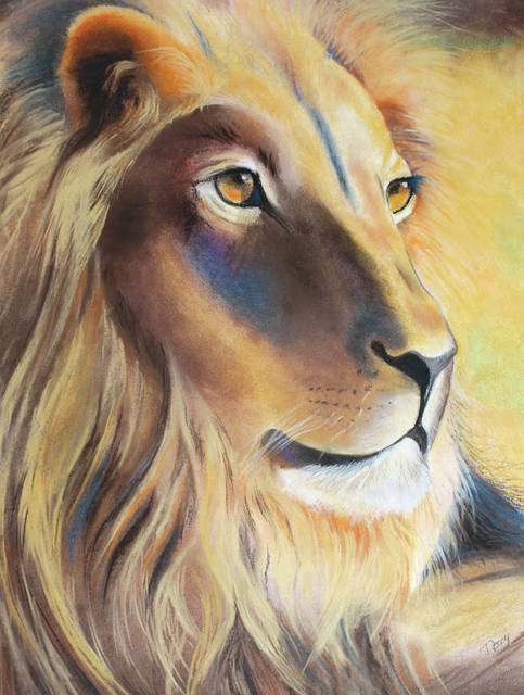 """Lion"" by Nancy Crawford."
