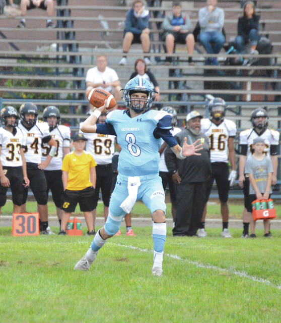 Trailing all night long, Fairborn quarterback Garison Secrest threw for 226 yards in Friday's Sept. 21 40-12 loss to visiting Sidney.