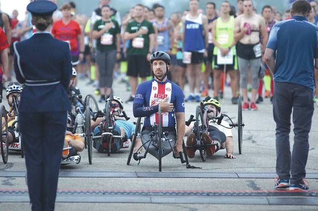 Barb Slone | Greene County News Thousands of runners and wheeled participants took off Sept. 15 from the Air Force Marathon starting line at the National Museum of the United States Air Force.