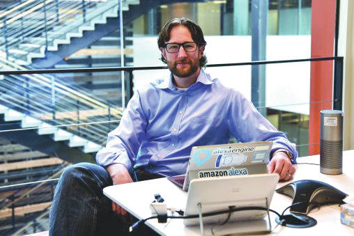 Submitted photo Joe Jessup, who graduated from Wright State in 1998 with a bachelor's degree in management information systems, is the senior manager of software development on Amazon's Alexa.
