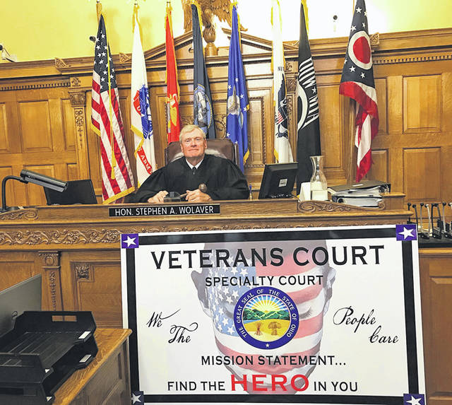 Photo courtesy of county court Judge Stephen Wolaver's Greene County Common Pleas Veterans Treatment Court and has earned final certification from Ohio.