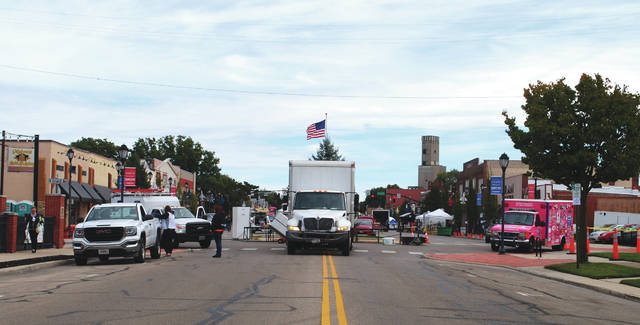 Whitney Vickers | Greene County News City employees were setting up Main Street Oct. 19 to host Fairborn's annual Halloween Festival, slated to take place Oct. 19 through Sunday, Oct 21.