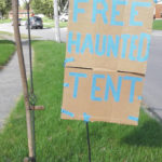 Trick-or-treaters invited to free haunted tent