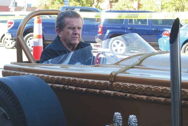 "Whitney Vickers | Greene County News Butch Patrick, who played Eddie Munster on the classic television show ""The Munsters"" made an appearance in Fairborn Oct. 24. He brought along the show's hot rods, the Munster Coach and the Dragula."