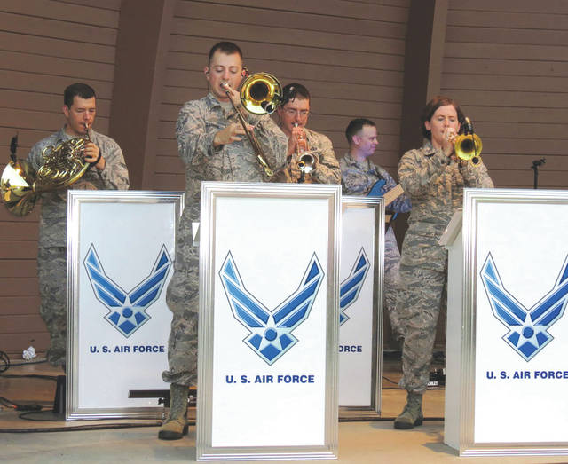 Submitted photo The United States Air Force Band of Flight, stationed at Wright-Patterson AFB, Ohio presents more than 240 performances annually, providing quality musical products for official military functions and ceremonies as well as civic events and public concerts.