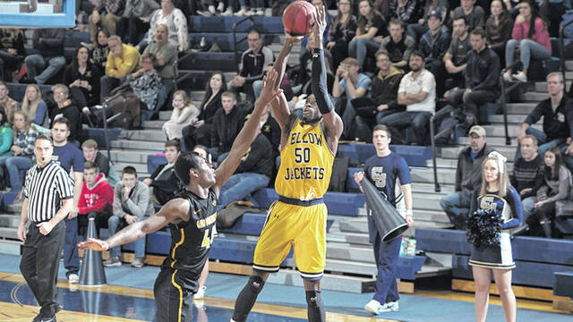 Photo courtesy of CU Robert Okoro is back for his fourth season with the Yellow Jackets.