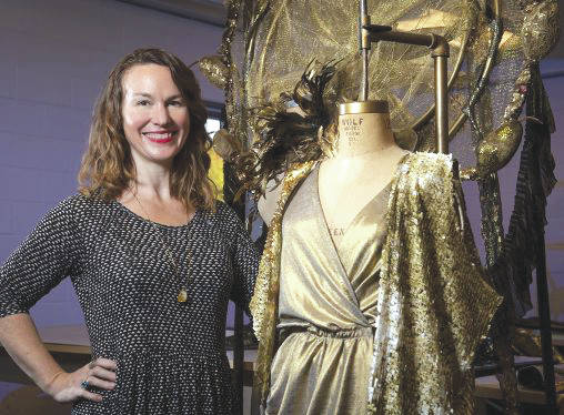 Submitted photos Costume created by Elizabeth Bourgeois, assistant professor of costume design, won the annual HighBall Halloween fashion show and party in Columbus.