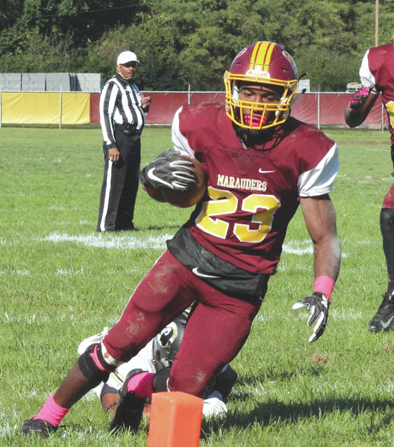 Central State's Terraris Saffold rushed for a career-high 214 yards in the Marauders' 45-22 win over Lane College, Nov. 3 at McPherson Stadium in Wilberforce.