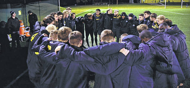 Photo courtesy of WSU Wright State University's men's soccer team claimed the regular season title with a dominating victory, Nov. 2, over the University of Wisconsin-Milwaukee.