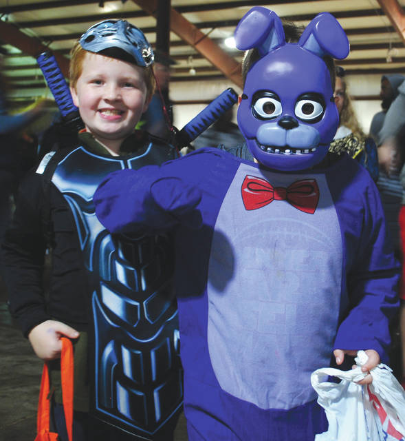 Whitney Vickers | Greene County News Families from throughout Greene County gathered to celebrate Halloween by trunk-or-treating Oct. 31 at the Greene County Fairgrounds.