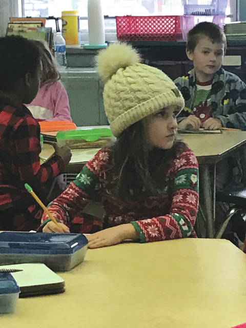 Submitted photos Fairborn Primary School recently hosted Pajama Day. For $1, staff members and students could wear their PJ's Nov. 16 to school. Fairborn Intermediate School is raising funds for families in need for the holidays. Pictured are Katie Hart and Diane Alessandro's students.