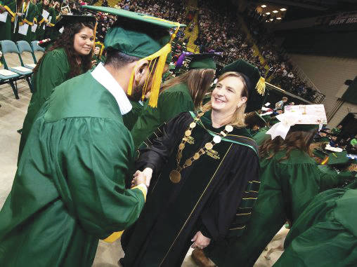 Submitted photo Wright State University President Cheryl B. Schrader told graduating students at fall commencement that acts of kindness can be a powerful world-changing force.
