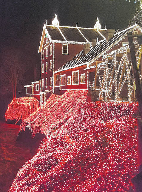 Barb Slone | Greene County News The light show features more than four million lights accross the Mill.